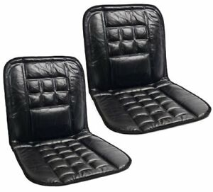 ORTHOPAEDIC LEATHER CAR FRONT SEAT COVERS PROTECT BACK SUPPORT CUSHION x 2