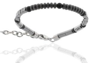 Pearl Bracelet Onyx & Stainless Steel & Hematite Men's STORCH SCHMUCK Germany