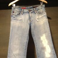 AG Adriano Goldschmied Womens THE ANGEL Size 26 R DISTRESSED JEANS