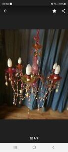 Lampe Hängelampe Kronleuchter bunt Perlen Glitzer blingbling orientalisch