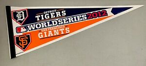 "2012 Detroit Tigers v. SF Giants Baseball MLB World Series 12""x30"" Team Pennant"