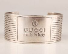 Italy Pre-owned 'GUCCI' bracelet/bangle .925 Sterling Silver - early 2000 design