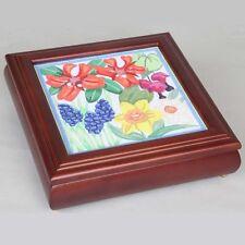 "Sudberry House ""Carol's Fancywork"" Box w/ Removable  Panel - Needlework, Xstitch"
