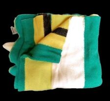 Vitg CHATHAM PURREY BLANKET Colorful White Green Yellow Black Mid-Century 70x80