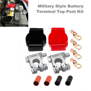 Military Spec Battery Terminal Top Post Kit for Car RV Marine Boat with 4 Lugs