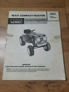 Montgomery Ward 18hp Compact Lawn Garden Tractor Owner & Parts Manual GIL-33489A