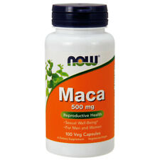 MACA, 500mg x 100 Veg Capsules, Menopause ,Energy, Hot Flashes- NOW Foods