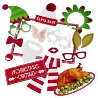 30 Christmas Photo Booth Props Funny Face Xmas Party Picture New Year Selfie Fun
