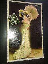 3-D Arlette Dorgere Model Poster Vintage Leather like feel large 11x17