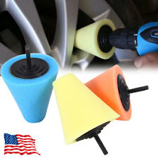 Auto Car Sponge Cone Metal Polishing Foam Pad Wool Buffing Polishing Ball Set US