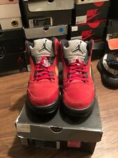 newest bab6f 1e131 Nike Air Jordan Retro 5 Raging Bull Red Suede Toro DMP Size 11.5 100%  Authentic