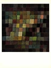 """1967 Vintage PAUL KLEE """"ANCIENT SOUND ABSTRACT ON BLACK"""" COLOR offset Lithograph"""