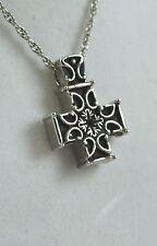 Cremation Black Celtic Cross  Necklace Urn Jewelry Memoria pendant chain  1051ss