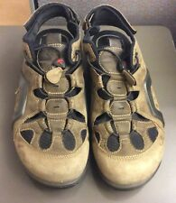 Vibram Men's Size US 8 1/2 Euro 42 Open Back Ventilated Hiking Shoes Sandals Tan