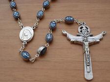 Medjugorje Blue Medal Our Lady Gospa  Rosary Catholic