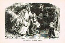 """Rabelais's' Satire - """"THE MASTER OF RINGING ISLAND""""- Litho by G. Dore -1880"""