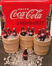 1/2 Wine Barrels Lot Of Three + 10 Coca-Cola on Ice 1:24 scale Miniarure NEW