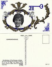 1982 PRINCESS DIANA 21st UNUSED LIMITED EDITION POSTCARD