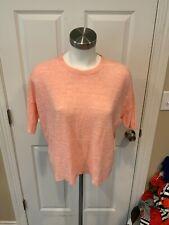 Eileen Fisher Peach Pink Linen Tunic Sweater, Size XXS, NWT!