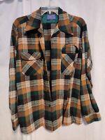 PENDLETON Coat Jacket Vintage 80's 100% Virgin Wool Men's M Size Plaid Genuine