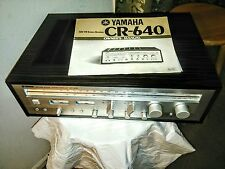 Vintage Yamaha CR-640 Natural Sound AM/FM Stereo Receiver  + Manual.As is.