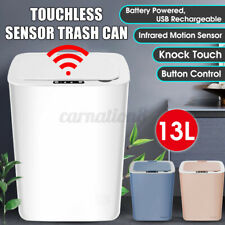 13L Rechargeable Automatic Touchless Sensor Trash Can Waste Bin for Home Office