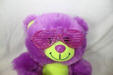 "Peek A Boo Toys Purple Teddy Bear Wearing Sunglasses stuffed/plush 7.5"""