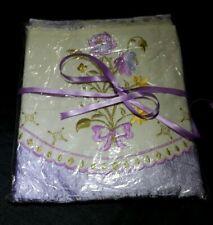 Bettwäsche 200x210 Satin/Baumwolle bügelfrei lila pastel Krinkle & Kissenbezug