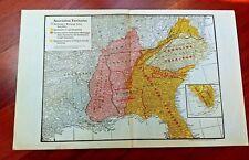 1913 Map Railroad Assoc Territories SE Miss Valley VA Carolina Railways Freight