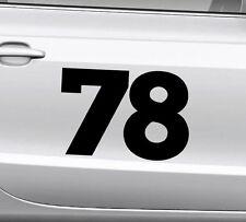 3x Startnummer Wunschnummer Auto Motorrad Motocross Aufkleber ATV M1 Enduro Boot