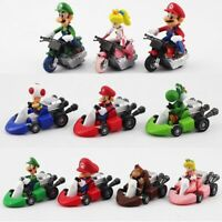 Super Mario MarioKart Wii Luigi Diecast Kart MINI Figurine lot de 10