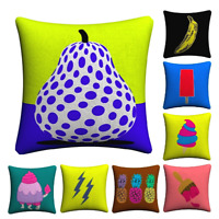 MINIMALIST ABSTRACT Cushion Covers! Simple Colourful Bold Retro 45cm Gift UK