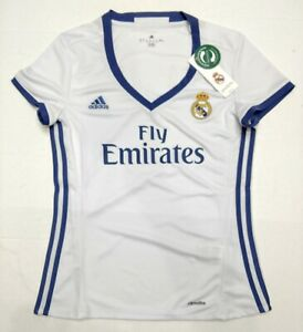 ADIDAS REAL MADRID JERSEY WOMEN LOCAL/HOME WHITE 2016/2017 AI5188 NWT