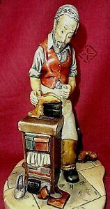 Vintage Stoneware Nature craft Figure Tom Cobbler England h - 23 cm.