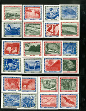 South America Black Flame Of Amazon Collection of 24 Stamp Labels