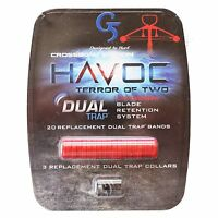 G5 Havoc XP Replacement Collars 319 Dual Trap Bands Kit RED Crossbow Edition