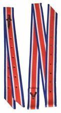 Showman Preimum Quality Red White Blue Nylon Tie Strap and off Billet Set Horse