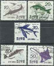 Timbres Poissons Corée 2163/7 o lot 1474