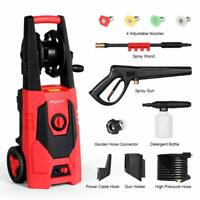 3000 PSI 1.85 GPM Electric High Pressure Washer Home Power Cleaner Machine Red