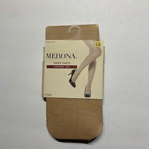 Merona Women's Nude Essentials Sheer Hosiery Size S/M New 1 Pair