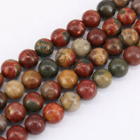 "15"" Strand Picasso Jasper Gemstone Loose Beads Jewelry Findings Craft 4/6/8/10MM"