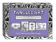 TANGLED ART BLANK NOTECARDS & ENVELOPES - NEW PAPERBACK BOOK