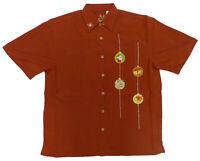 Bamboo Cay Mens Santa Ornament Embroidered Shirt