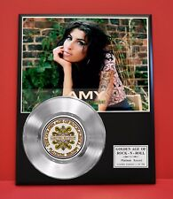 Amy Winehouse Limited Platinum Record Collectible Music Award Memorabilia