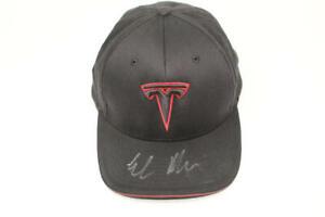 ELON MUSK SIGNED AUTOGRAPH TESLA BASEBALL HAT CAP - SPACEX FOUNDER w/ ACOA RARE!