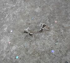Solid Sterling Silver Dragonfly Stud Earrings