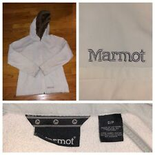 Marmot Women's White Full Zip Soft Shell Faux Fur Trim Jacket Sz Small