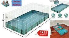 Big Home Cage For Guinea Pig Pets Hamster Habitat Enclosure 8 Square Feet Area