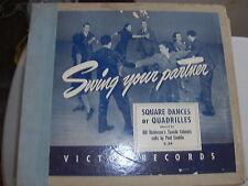 BILL DICKINSON VICTOR 78 RPM RECORD SET C-34 SQUARE DANCE PAUL CONKLIN