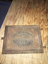 "1930's 10 3/8"" J B Varicella Co Cast Iron Furnace Door Manchester Nh"